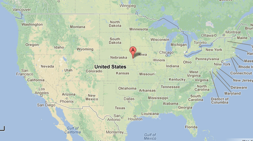 Omaha Location On The US Map Where Is Omaha Reference Map Of - Nebraska on us map